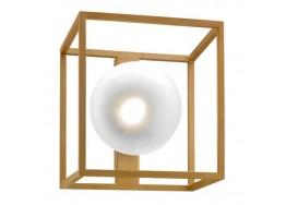 Μονόφωτη απλίκα με γυάλινη μπάλα σε μεταλλικό πλαίσιο 25x25cm