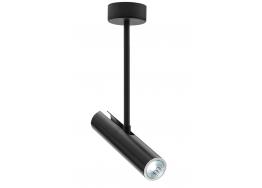 Μαύρο κρεμαστό μονόφωτο GU10 Ø5x35cm