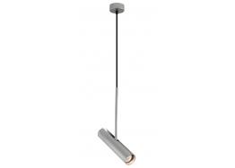 Γκρι κρεμαστό αλουμινίου Ø7x35cm μονόφωτο GU10