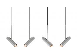 Τετράφωτη ράγα αλουμινίου GU10 LED