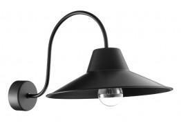 Μαύρη μεταλλική απλίκα Ø30cm