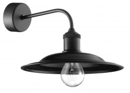 Μαύρη μεταλλική απλίκα Ø25cm