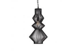 Κρεμαστό φωτιστικό από μαύρο σιδερένιο πλέγμα Ø28x53cm