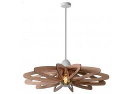 Κρεμαστό ξύλινο φωτστικό Ø76cm λουλούδι σε χρώμα ανοιχτού ξύλου