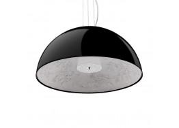 Μοντέρνο Κρεμαστό Φωτιστικό Μονόφωτο Μαύρο Γύψινο Καμπάνα Ø60cm