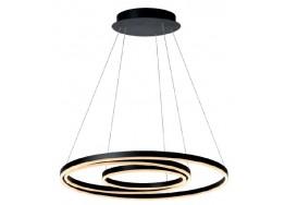 Κρεμαστό μαύρο φωτιστικό Ø80cm LED με τρείς δακτύλιους