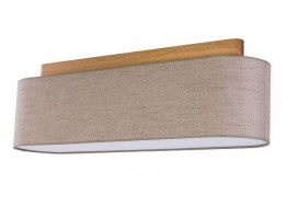Τετράφωτο οροφής από ύφασμα και ξύλο 80cm