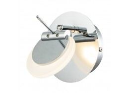Χρώμιο απλίκα LED 4000K περιστρεφόμενη Ø11cm