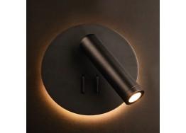 Απλίκα reading στρογγυλή Ø14cm με backlight