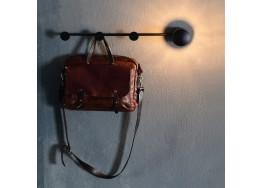 Μεταλλική κρεμάστρα τοίχου 66cm με βιδωτή λάμπα Ε27