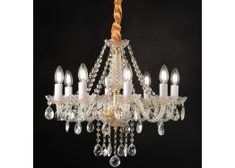 Gladiolo πολυέλαιος με 8 φώτα χρυσαφί ACA