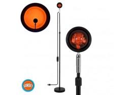 Φωτιστικό δαπέδου 94cm με φακό ειδικού εφέ LED Sunset Orange