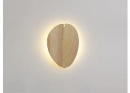 Φωτιστικό τοίχου LED ξύλινο φύλλο 14x19cm