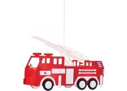 Κρεμαστό παιδικό φωτιστικό πυροσβεστικό όχημα 43x13cm