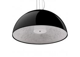 Μοντέρνο Κρεμαστό Φωτιστικό Μονόφωτο Μαύρο Γύψινο Καμπάνα Ø90cm