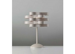 Επιτραπέζιο φωτιστικό 40cm με κεφαλή από πλαστικοποιημένη κορδέλα Ø25cm