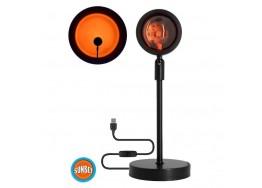 Επιτραπέζιο φωτιστικό 27cm με φακό ειδικού εφέ LED Sunset Orange