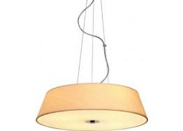 Υφασμάτινο κρεμαστό τετράφωτο Ø45cm με γυάλινο κάλυμμα