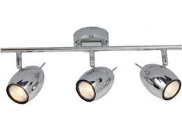 Τρίφωτο σποτ οροφής 45cm GU10 χρώμιο