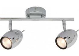 Δίφωτο σποτ οροφής 34cm GU10 χρώμιο