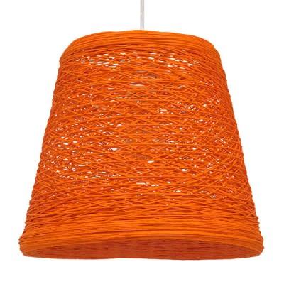 Χρωματιστό φωτιστικό ψάθινο rattan Φ32cm