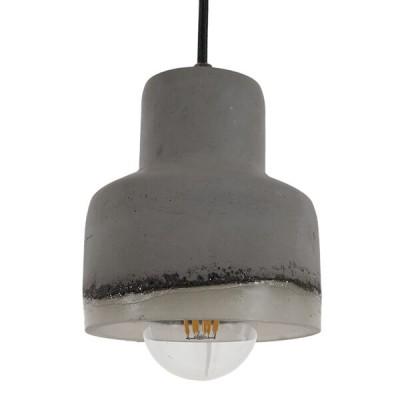Vintage Industrial Κρεμαστό Φωτιστικό Τσιμεντένιο Ø13cm