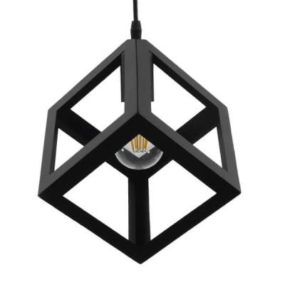 Μαύρος Μεταλλικός Κύβος Ø25cm με Ανοίγματα
