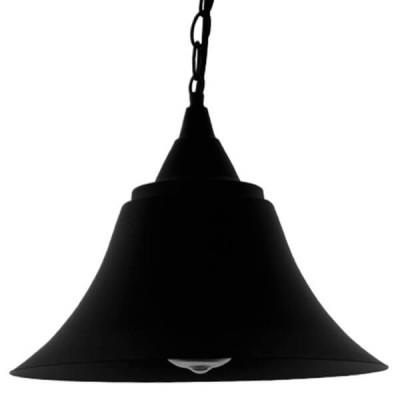 Vintage industrial κρεμαστό φωτιστικό μονόφωτο μαύρο μεταλλικό καμπάνα Φ29cm