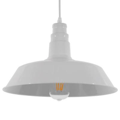 Vintage industrial κρεμαστό φωτιστικό καμπάνα Φ36cm λευκό