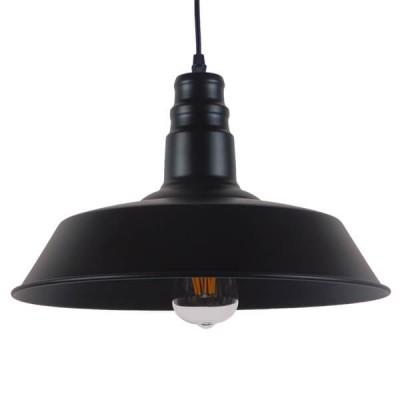 Vintage industrial κρεμαστό φωτιστικό καμπάνα Φ36cm μαύρο