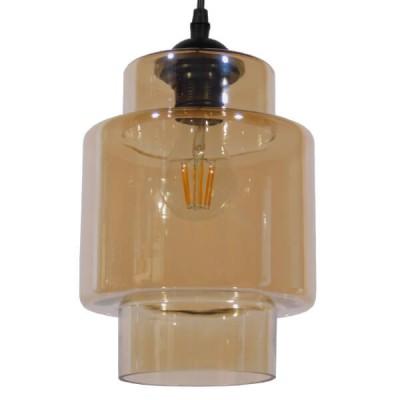Κρεμαστό Φωτιστικό Γυάλινο Μελί Ø18cm
