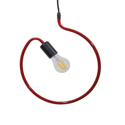 Μοντέρνο Κρεμαστό Φωτιστικό Μονόφωτο Κόκκινο Μεταλλικό