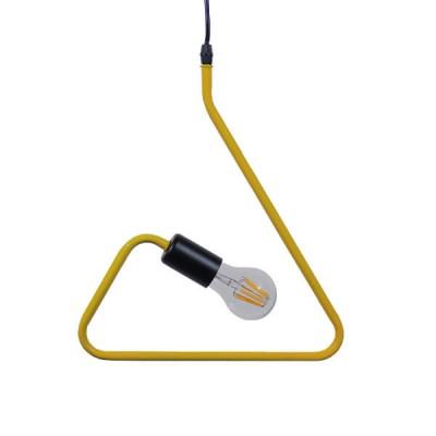 Μοντέρνο Κρεμαστό Φωτιστικό Μονόφωτο Κίτρινο Μεταλλικό