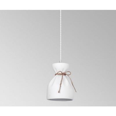 Κρεμαστό φωτιστικό πουγκί Ø15cm από πορσελάνη