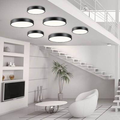 Μεταλλική πλαφονιέρα οροφής LED 3000K