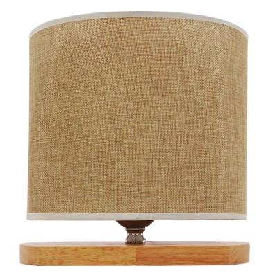 Μοντέρνο χαμηλό πορτατίφ 25cm ξύλινο με μπέζ καπέλο