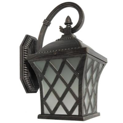 Vintage Φωτιστικό Τοίχου Απλίκα Μονόφωτο Σκούρο Καφέ Μεταλλικό Πλέγμα