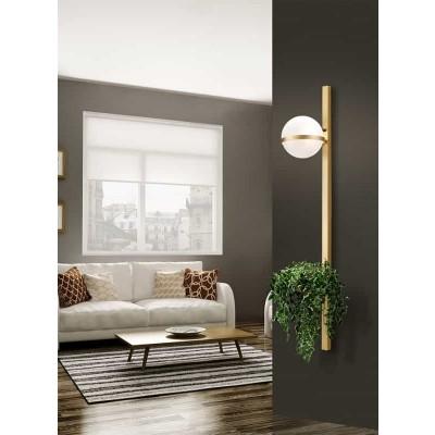 Μεταλλικό φωτιστικό τοίχου 120x21cm με θήκη για διακόσμηση