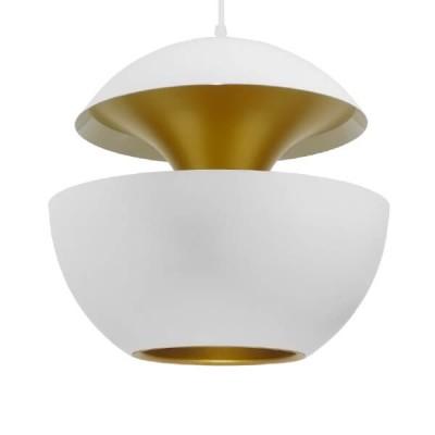 Μοντέρνο Κρεμαστό Φωτιστικό Μονόφωτο Λευκό Μεταλλικό Ø35cm