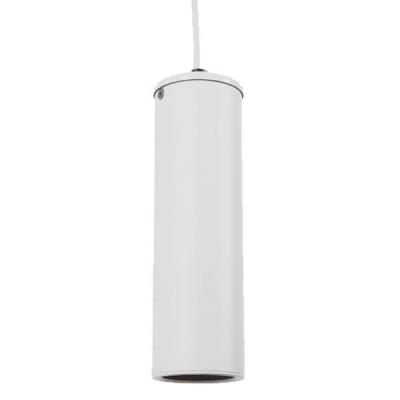 Μοντέρνο κρεμαστό φωτιστικό spot gu10 μονόφωτο λευκό μεταλλικό Φ6cm