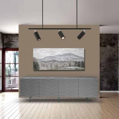 Τρίφωτο φωτιστικό οροφής 70x90cm με ντουί GU10