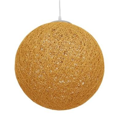 Κρεμαστό φωτιστικό μπάλα Φ40cm από ψαθί-rattan