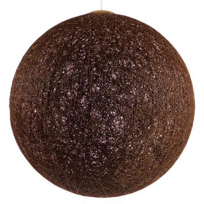 Κρεμαστό φωτιστικό μπάλα Φ60cm από ψαθί-rattan