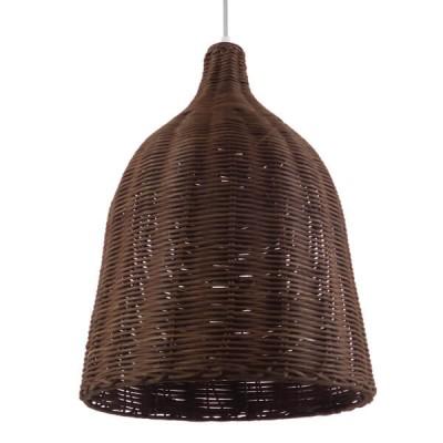 Καμπάνα από καφέ σκούρο ψαθί-rattan Φ30cm