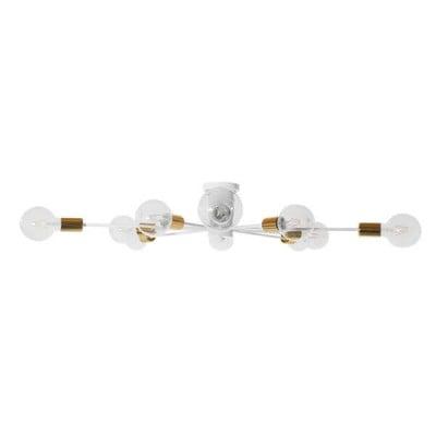 Μοντέρνο Industrial Φωτιστικό Οροφής Πολύφωτο Λευκό Μεταλλικό Ø95cm
