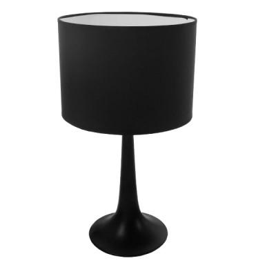 Μαύρο μίνιμαλ πορτατίφ μεταλλικό με καπέλο φ25cm