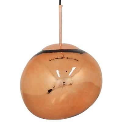 Μοντέρνο Κρεμαστό Φωτιστικό Μονόφωτο Γυάλινο Ø36cm