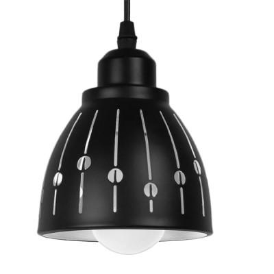 Μοντέρνα Μεταλλικά Καμπάνα Μαύρη με Λευκό Σχέδιο Ø13cm