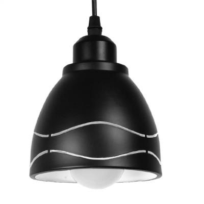Μοντέρνα Μεταλλικά Καμπάνα Μαύρη με Κυματιστό Λευκό Σχέδιο Ø13cm