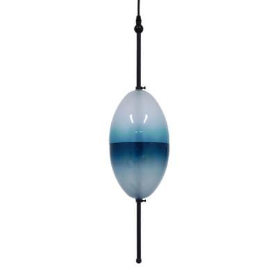 Μοντέρνο Κρεμαστό Φωτιστικό Μονόφωτο Γυάλινο Τιρκουάζ Διάφανο Ø16cm